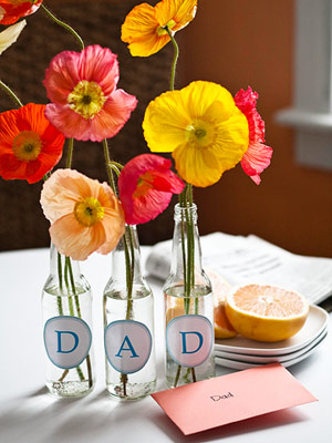 These labels are the perfect DIY project This simple DAD centerpiece can