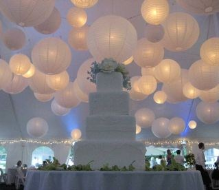 You can also use paper lanterns for centerpieces they come in all