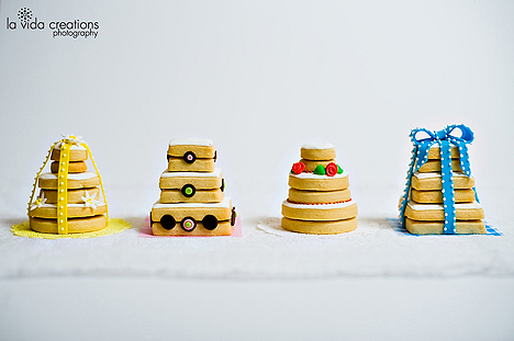 Stacked Wedding Cake Cookies Sugar Cookie Wedding Cakes