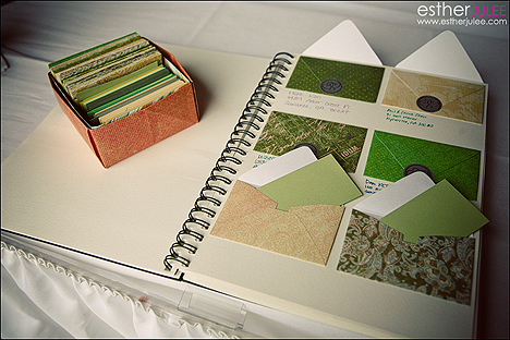 File Card Guest Book I love this idea Instead of a book you can have an