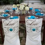 Hand-Painted Custom Wedding Chair Covers
