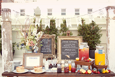 Pancake bar for Outdoor brunch decorating ideas