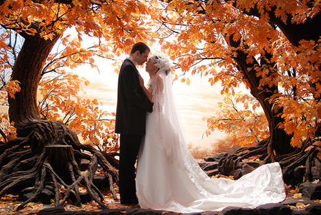 Unique wedding ideas for fall weddings via beau coup junglespirit Choice Image