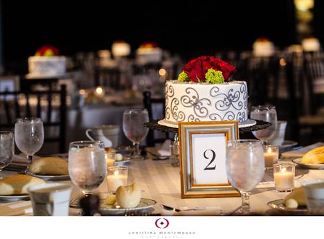 wedding reception mini cakes 1