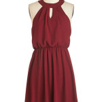 City Sway Dress in Wine
