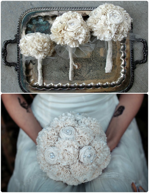 Crazy About Fabric Wedding Bouquets!