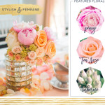 Stylish and Feminine Wedding Centerpiece Ideas