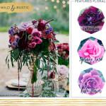 Wild and Rustic Wedding Centerpiece