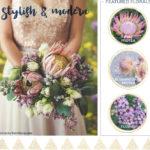 Stylish & Modern Fall Wedding Flowers