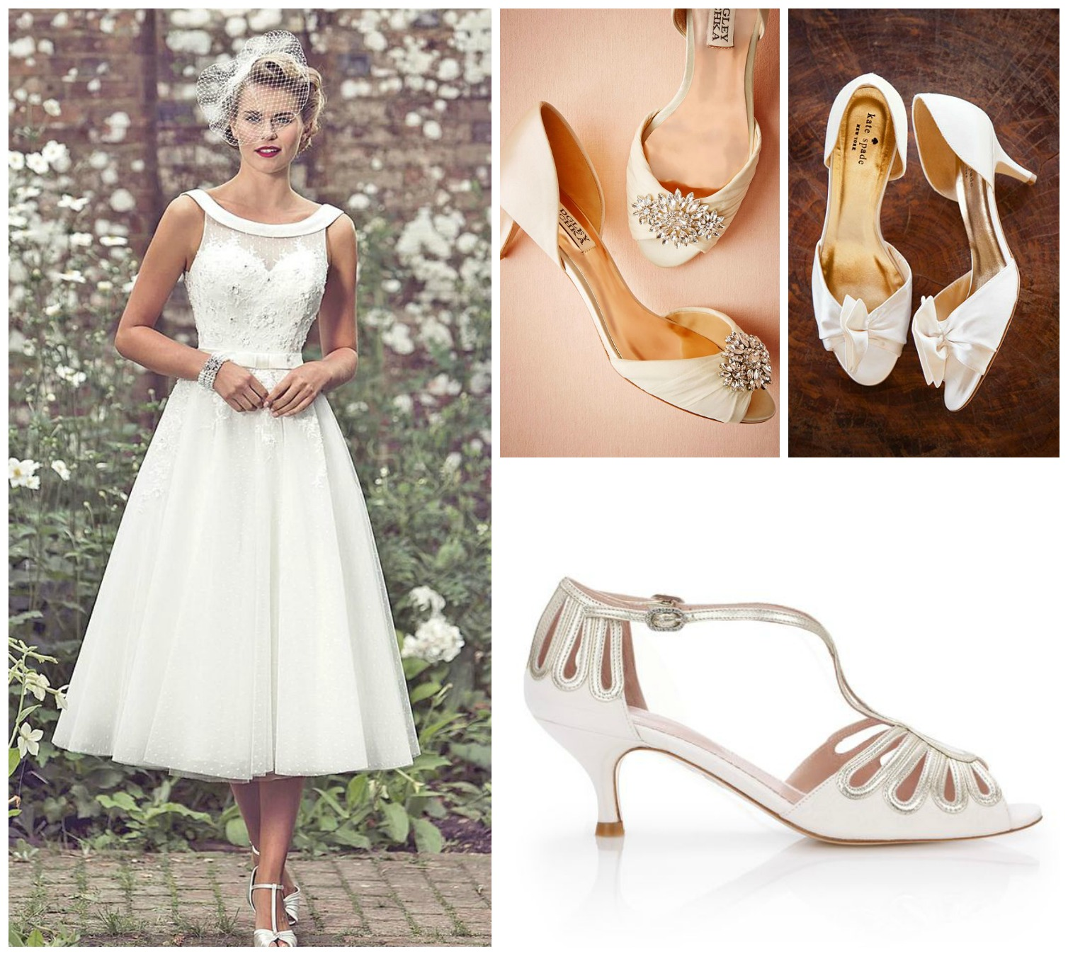 Flat shoes with tea length wedding dress style guru for Shoes for tea length wedding dress