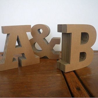 large cardboard letters about 3 d monograms 22683 | Letterfest Chunky Cardboard Letters