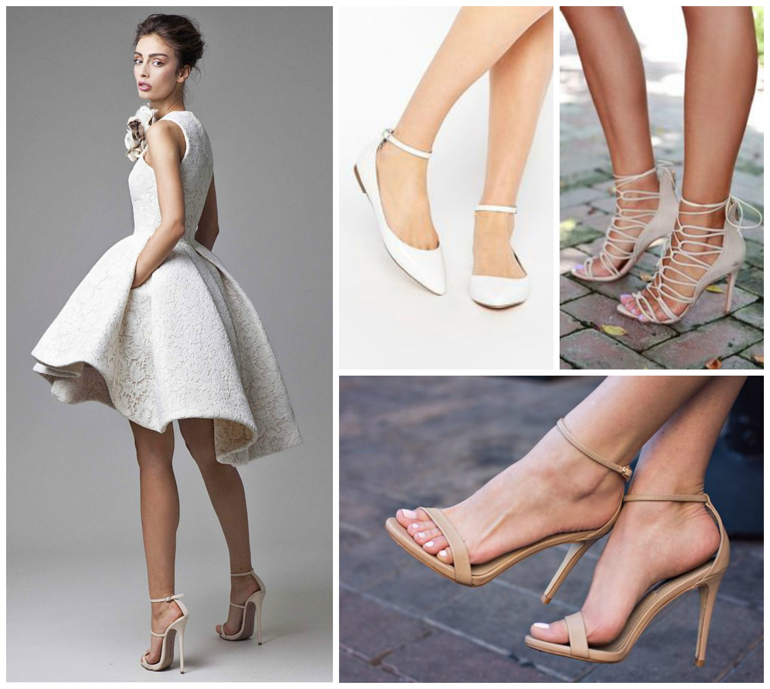 short heel wedding shoes bridal shoe choices depending on the style of the dress 7349